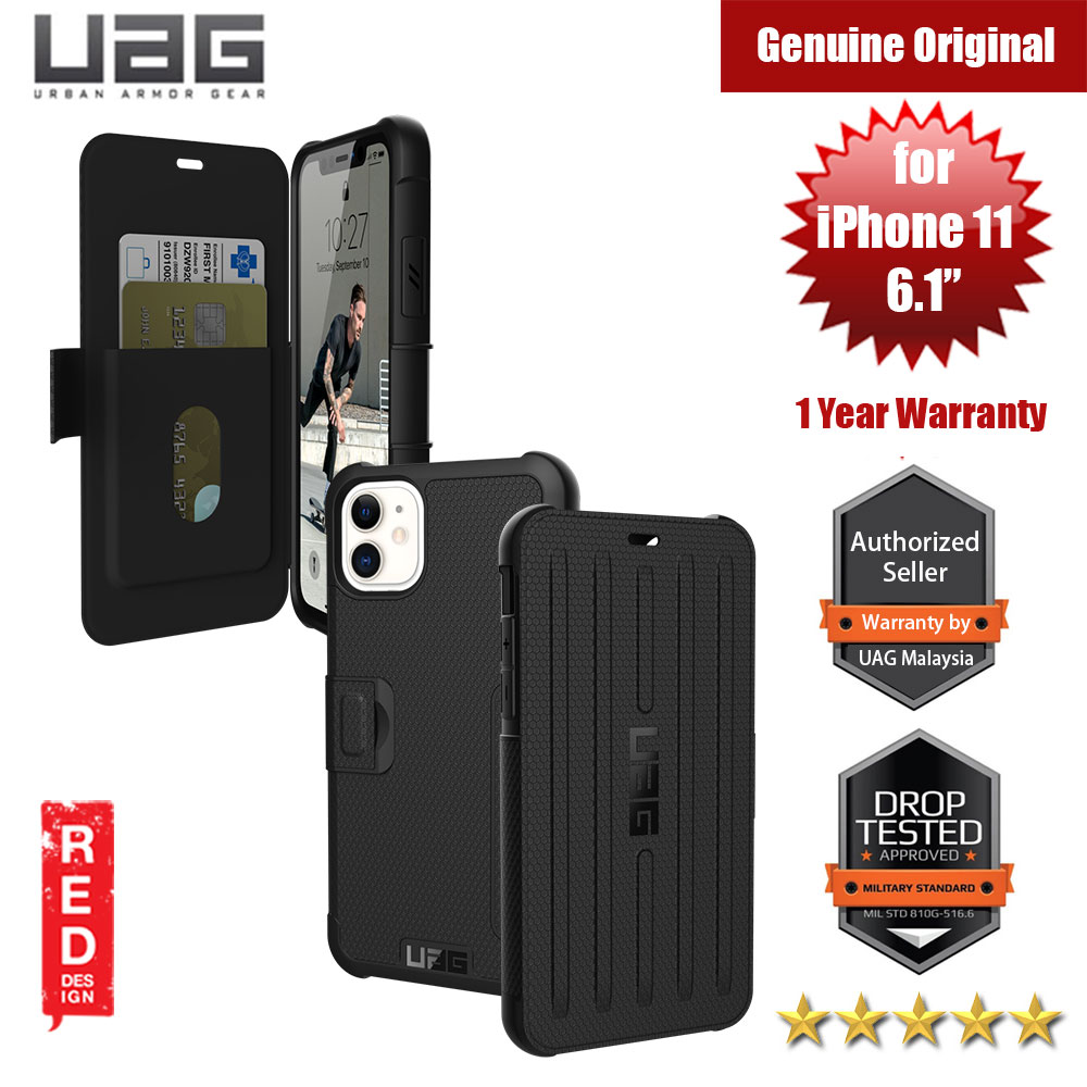 Picture of UAG Metropolis Flip Cover with Card Slot Drop Protection Case for Apple iPhone 11 6.1 (Black) Apple iPhone 11 6.1- Apple iPhone 11 6.1 Cases, Apple iPhone 11 6.1 Covers, iPad Cases and a wide selection of Apple iPhone 11 6.1 Accessories in Malaysia, Sabah, Sarawak and Singapore