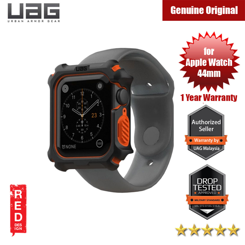 Picture of UAG Rugged Case Series Drop Protection Case for Apple Watch 44mm Series 4 Series 5 (Black Orange) Apple Watch 44mm- Apple Watch 44mm Cases, Apple Watch 44mm Covers, iPad Cases and a wide selection of Apple Watch 44mm Accessories in Malaysia, Sabah, Sarawak and Singapore