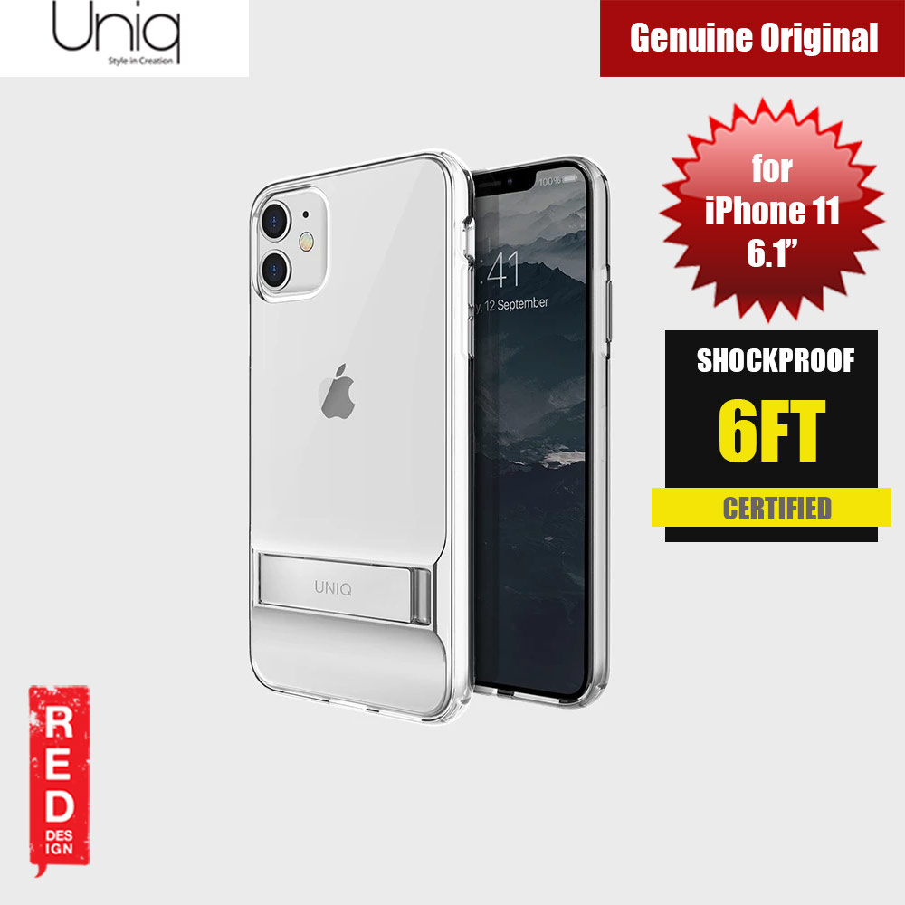 Picture of Uniq Cabrio Kickstand Series Drop Protection Case for Apple iPhone 11 6.1 (Clear) Apple iPhone 11 6.1- Apple iPhone 11 6.1 Cases, Apple iPhone 11 6.1 Covers, iPad Cases and a wide selection of Apple iPhone 11 6.1 Accessories in Malaysia, Sabah, Sarawak and Singapore