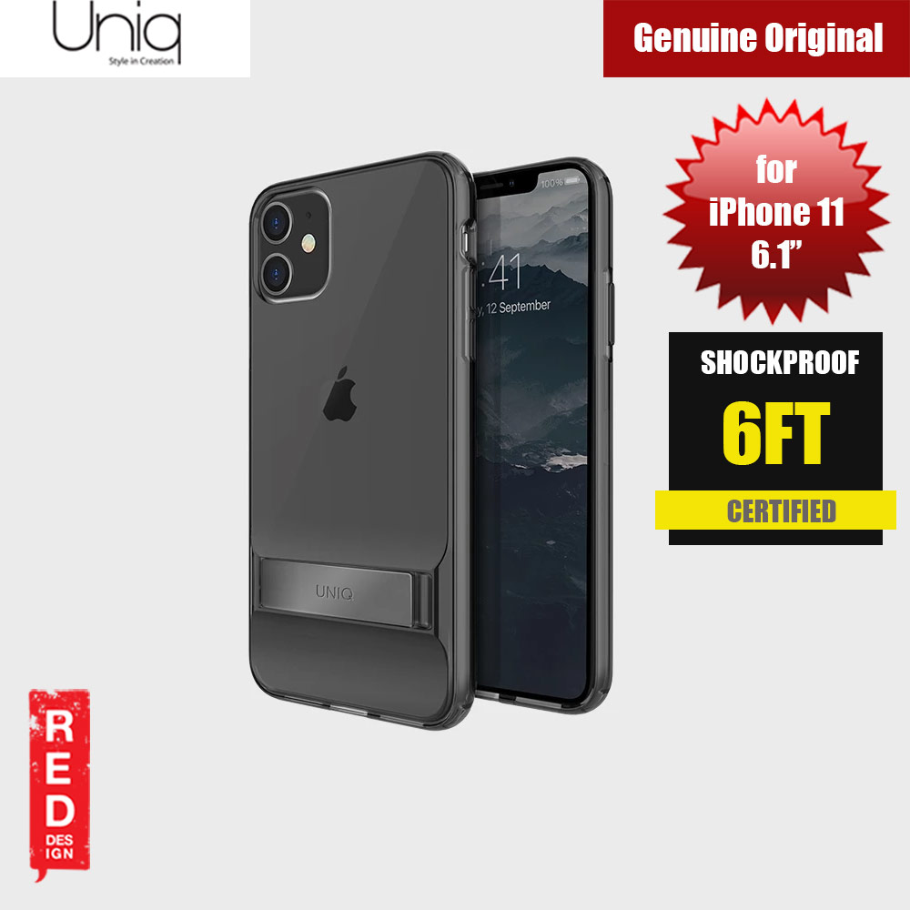Picture of Uniq Cabrio Kickstand Series Drop Protection Case for Apple iPhone 11 6.1 (Smoke) Apple iPhone 11 6.1- Apple iPhone 11 6.1 Cases, Apple iPhone 11 6.1 Covers, iPad Cases and a wide selection of Apple iPhone 11 6.1 Accessories in Malaysia, Sabah, Sarawak and Singapore