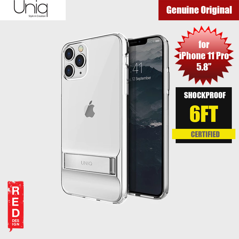Picture of Uniq Cabrio Kickstand Series Drop Protection Case for Apple iPhone 11 Pro 5.8 (Clear) Apple iPhone 11 Pro 5.8- Apple iPhone 11 Pro 5.8 Cases, Apple iPhone 11 Pro 5.8 Covers, iPad Cases and a wide selection of Apple iPhone 11 Pro 5.8 Accessories in Malaysia, Sabah, Sarawak and Singapore