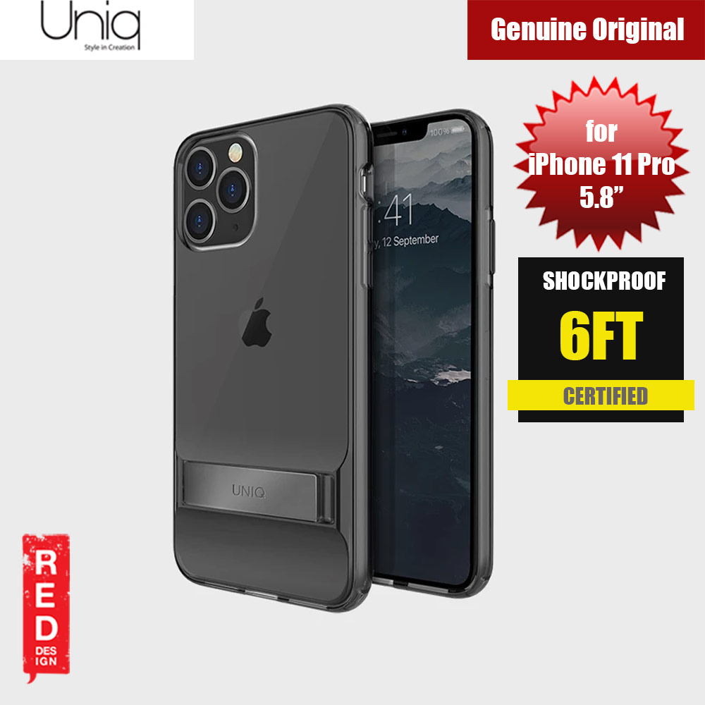 Picture of Uniq Cabrio Kickstand Series Drop Protection Case for Apple iPhone 11 Pro 5.8 (Smoke) Apple iPhone 11 Pro 5.8- Apple iPhone 11 Pro 5.8 Cases, Apple iPhone 11 Pro 5.8 Covers, iPad Cases and a wide selection of Apple iPhone 11 Pro 5.8 Accessories in Malaysia, Sabah, Sarawak and Singapore