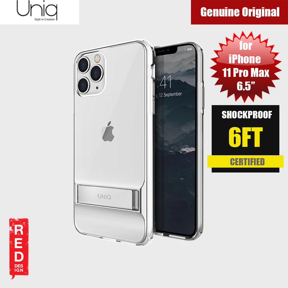 Picture of Uniq Cabrio Kickstand Series Drop Protection Case for Apple iPhone 11 Pro Max 6.5 (Clear) Apple iPhone 11 Pro Max 6.5- Apple iPhone 11 Pro Max 6.5 Cases, Apple iPhone 11 Pro Max 6.5 Covers, iPad Cases and a wide selection of Apple iPhone 11 Pro Max 6.5 Accessories in Malaysia, Sabah, Sarawak and Singapore