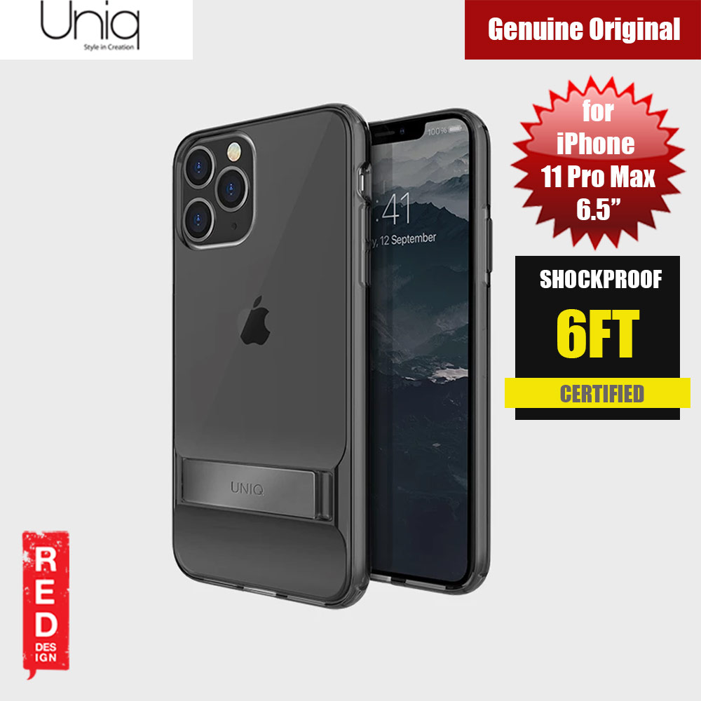Picture of Uniq Cabrio Kickstand Series Drop Protection Case for Apple iPhone 11 Pro Max 6.5 (Smoke) Apple iPhone 11 Pro Max 6.5- Apple iPhone 11 Pro Max 6.5 Cases, Apple iPhone 11 Pro Max 6.5 Covers, iPad Cases and a wide selection of Apple iPhone 11 Pro Max 6.5 Accessories in Malaysia, Sabah, Sarawak and Singapore