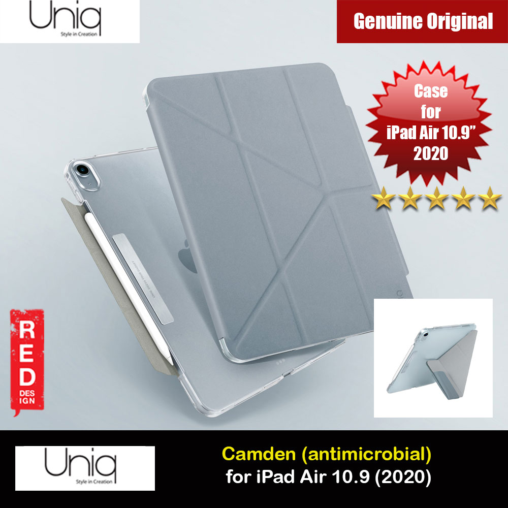 Picture of Uniq Camden Antimicrobial Ultra Slim and Lightweight Landscape Portrait Typing Flip Stand Case for Apple iPad Air 10.9 2020 iPad Air 4th generation 2020 (Blue) Apple iPad Air 10.9 2020- Apple iPad Air 10.9 2020 Cases, Apple iPad Air 10.9 2020 Covers, iPad Cases and a wide selection of Apple iPad Air 10.9 2020 Accessories in Malaysia, Sabah, Sarawak and Singapore
