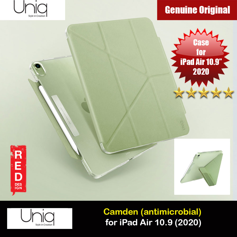 Picture of Uniq Camden Antimicrobial Ultra Slim and Lightweight Landscape Portrait Typing Flip Stand Case for Apple iPad Air 10.9 2020 iPad Air 4th generation 2020 (Green) Apple iPad Air 10.9 2020- Apple iPad Air 10.9 2020 Cases, Apple iPad Air 10.9 2020 Covers, iPad Cases and a wide selection of Apple iPad Air 10.9 2020 Accessories in Malaysia, Sabah, Sarawak and Singapore