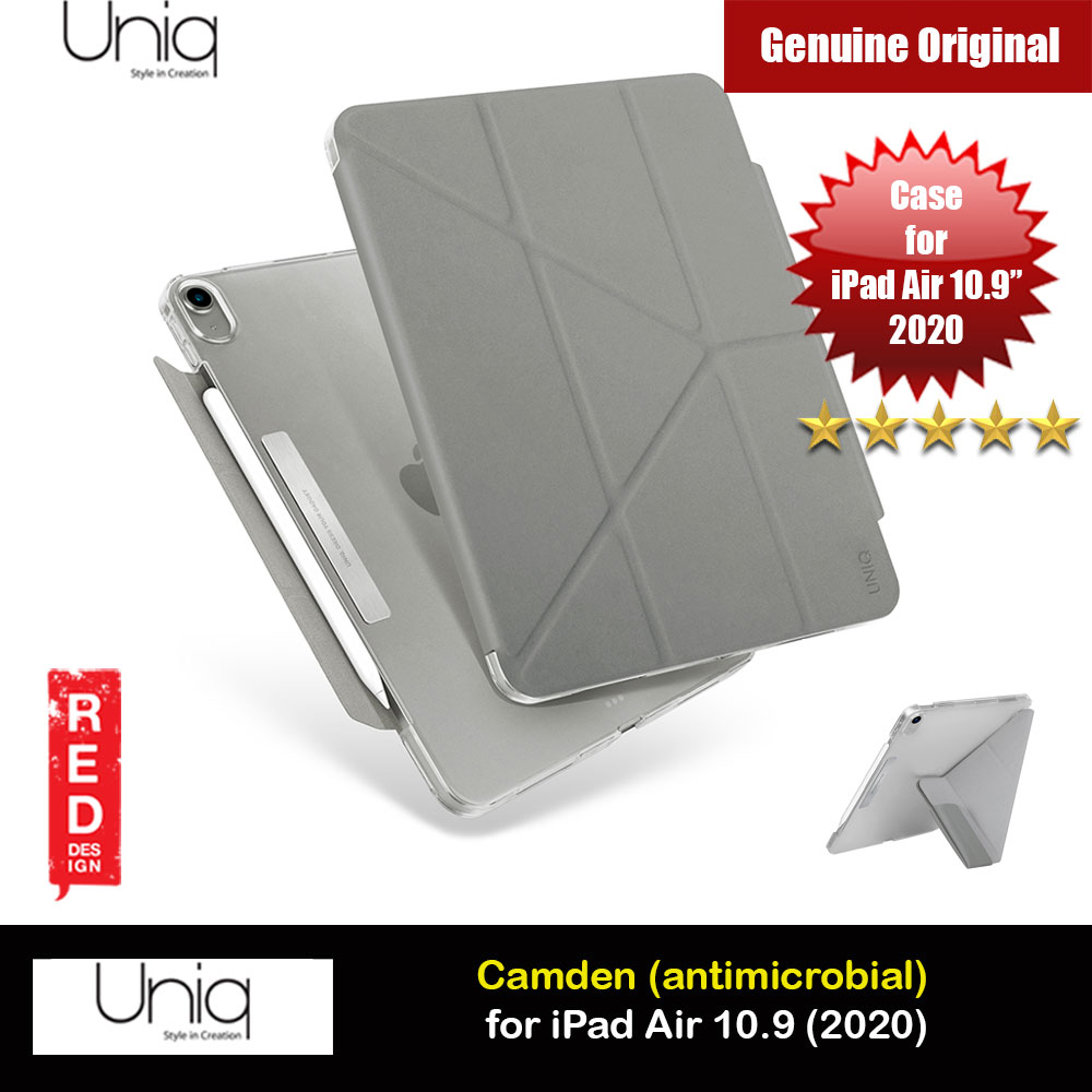 Picture of Uniq Camden Antimicrobial Ultra Slim and Lightweight Landscape Portrait Typing Flip Stand Case for Apple iPad Air 10.9 2020 iPad Air 4th generation 2020 (Grey) Apple iPad Air 10.9 2020- Apple iPad Air 10.9 2020 Cases, Apple iPad Air 10.9 2020 Covers, iPad Cases and a wide selection of Apple iPad Air 10.9 2020 Accessories in Malaysia, Sabah, Sarawak and Singapore