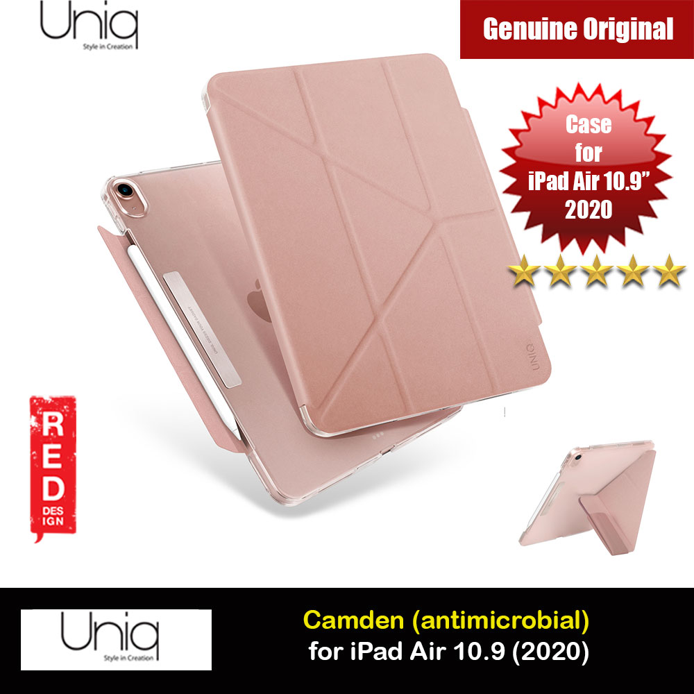Picture of Uniq Camden Antimicrobial Ultra Slim and Lightweight Landscape Portrait Typing Flip Stand Case for Apple iPad Air 10.9 2020 iPad Air 4th generation 2020 (Pink) Apple iPad Air 10.9 2020- Apple iPad Air 10.9 2020 Cases, Apple iPad Air 10.9 2020 Covers, iPad Cases and a wide selection of Apple iPad Air 10.9 2020 Accessories in Malaysia, Sabah, Sarawak and Singapore