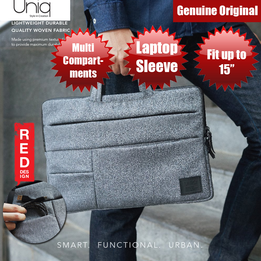 Picture of Uniq Cavalier Laptop Sleeve with Multi compartment fit up to 15 inches (Grey) Red Design- Red Design Cases, Red Design Covers, iPad Cases and a wide selection of Red Design Accessories in Malaysia, Sabah, Sarawak and Singapore