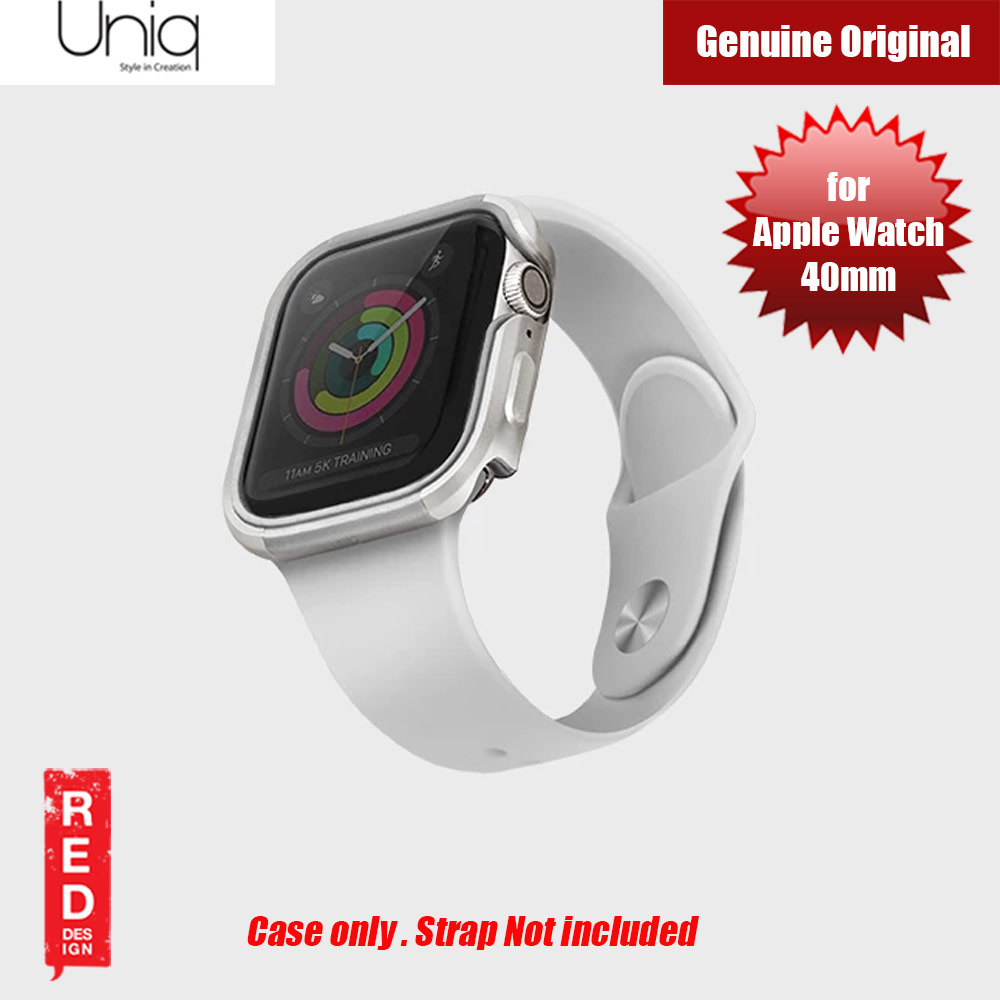 Picture of Uniq Valencia Series Reinforced Aluminium Defense Case for Apple Watch Series 4 40mm (Silver) Apple Watch 40mm- Apple Watch 40mm Cases, Apple Watch 40mm Covers, iPad Cases and a wide selection of Apple Watch 40mm Accessories in Malaysia, Sabah, Sarawak and Singapore