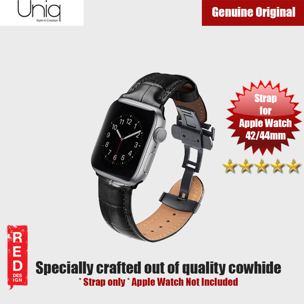 Picture of Uniq Caro Series Quality Cowhide Strap for Apple Watch 42mm 44mm (Black) Apple Watch 42mm- Apple Watch 42mm Cases, Apple Watch 42mm Covers, iPad Cases and a wide selection of Apple Watch 42mm Accessories in Malaysia, Sabah, Sarawak and Singapore