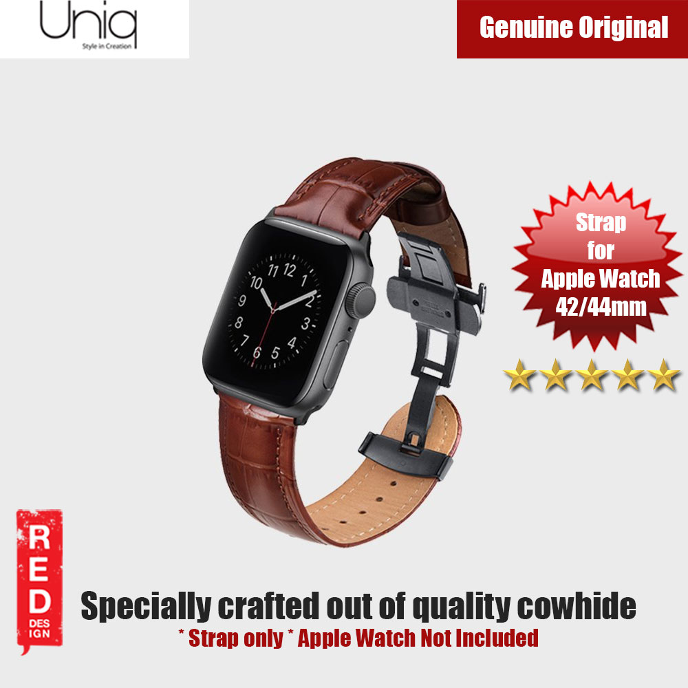Picture of Uniq Caro Series Quality Cowhide Strap for Apple Watch 42mm 44mm (Brown) Apple Watch 42mm- Apple Watch 42mm Cases, Apple Watch 42mm Covers, iPad Cases and a wide selection of Apple Watch 42mm Accessories in Malaysia, Sabah, Sarawak and Singapore
