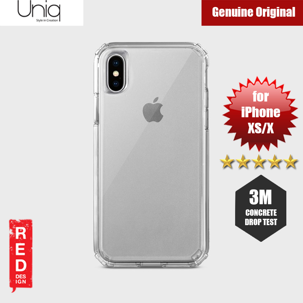 Picture of Uniq Clarion Drop Protection Case for Apple iPhone XS iPhone X (Clear) Apple iPhone X- Apple iPhone X Cases, Apple iPhone X Covers, iPad Cases and a wide selection of Apple iPhone X Accessories in Malaysia, Sabah, Sarawak and Singapore