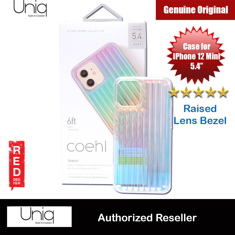 Picture of Uniq Coehl Holography Soft Drop Protection Case for iPhone 12 Mini 5.4 (Linear Iridescent) Apple iPhone 12 mini 5.4- Apple iPhone 12 mini 5.4 Cases, Apple iPhone 12 mini 5.4 Covers, iPad Cases and a wide selection of Apple iPhone 12 mini 5.4 Accessories in Malaysia, Sabah, Sarawak and Singapore