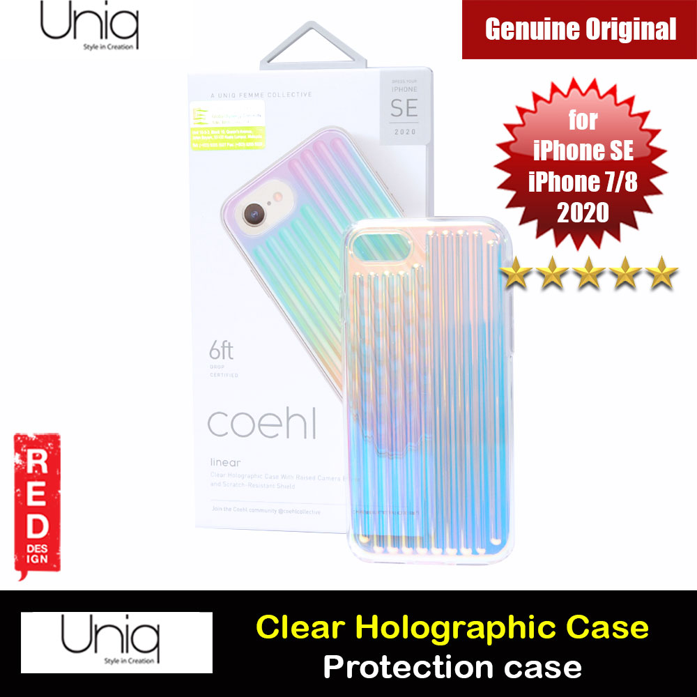 Picture of Uniq Coehl Clear Holographic Protection Case Colorful Case for iPhone SE 2020 iPhone 7 iPhone 8 (Linear) Apple iPhone SE 2020- Apple iPhone SE 2020 Cases, Apple iPhone SE 2020 Covers, iPad Cases and a wide selection of Apple iPhone SE 2020 Accessories in Malaysia, Sabah, Sarawak and Singapore