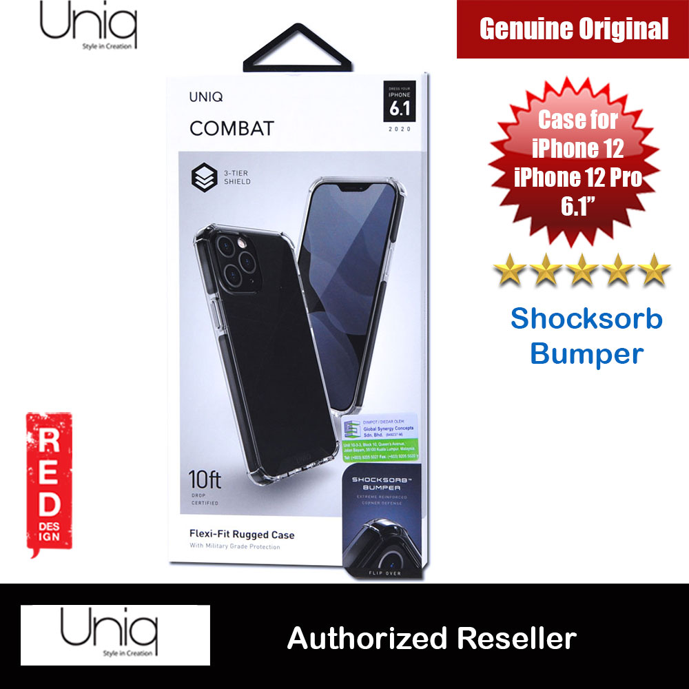 Picture of Uniq Combat Ultra Tough Drop Protection Case for iPhone 12 iPhone 12 Pro 6.1 (Black) Apple iPhone 12 mini 5.4- Apple iPhone 12 mini 5.4 Cases, Apple iPhone 12 mini 5.4 Covers, iPad Cases and a wide selection of Apple iPhone 12 mini 5.4 Accessories in Malaysia, Sabah, Sarawak and Singapore