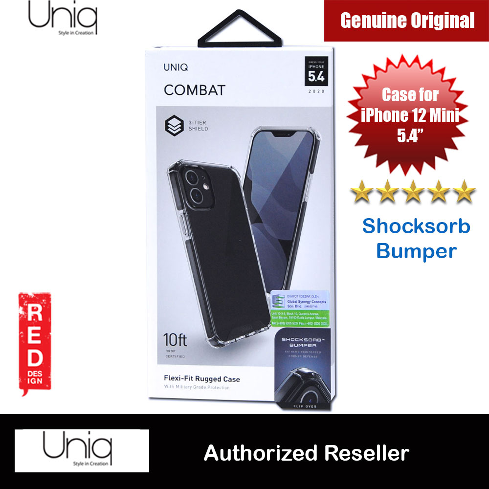 Picture of Uniq Combat Ultra Tough Drop Protection Case for iPhone 12 Mini 5.4 (Black) Apple iPhone 12 mini 5.4- Apple iPhone 12 mini 5.4 Cases, Apple iPhone 12 mini 5.4 Covers, iPad Cases and a wide selection of Apple iPhone 12 mini 5.4 Accessories in Malaysia, Sabah, Sarawak and Singapore