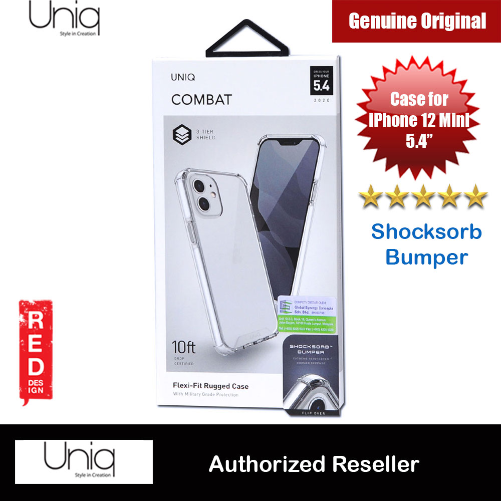 Picture of Uniq Combat Ultra Tough Drop Protection Case for iPhone 12 Mini 5.4 (White) Apple iPhone 12 mini 5.4- Apple iPhone 12 mini 5.4 Cases, Apple iPhone 12 mini 5.4 Covers, iPad Cases and a wide selection of Apple iPhone 12 mini 5.4 Accessories in Malaysia, Sabah, Sarawak and Singapore