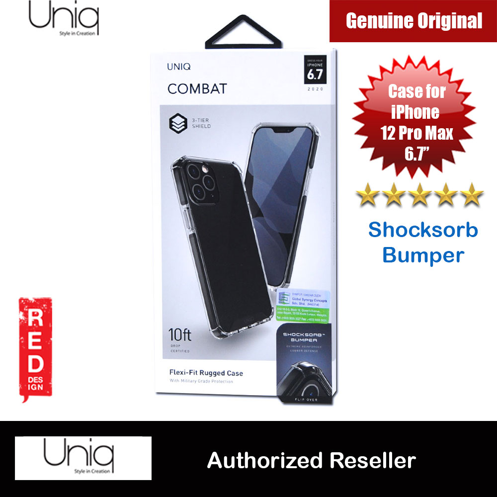 Picture of Uniq Combat Ultra Tough Drop Protection Case for iPhone 12 Pro Max 6.7 (Black) Apple iPhone 12 Pro Max 6.7- Apple iPhone 12 Pro Max 6.7 Cases, Apple iPhone 12 Pro Max 6.7 Covers, iPad Cases and a wide selection of Apple iPhone 12 Pro Max 6.7 Accessories in Malaysia, Sabah, Sarawak and Singapore