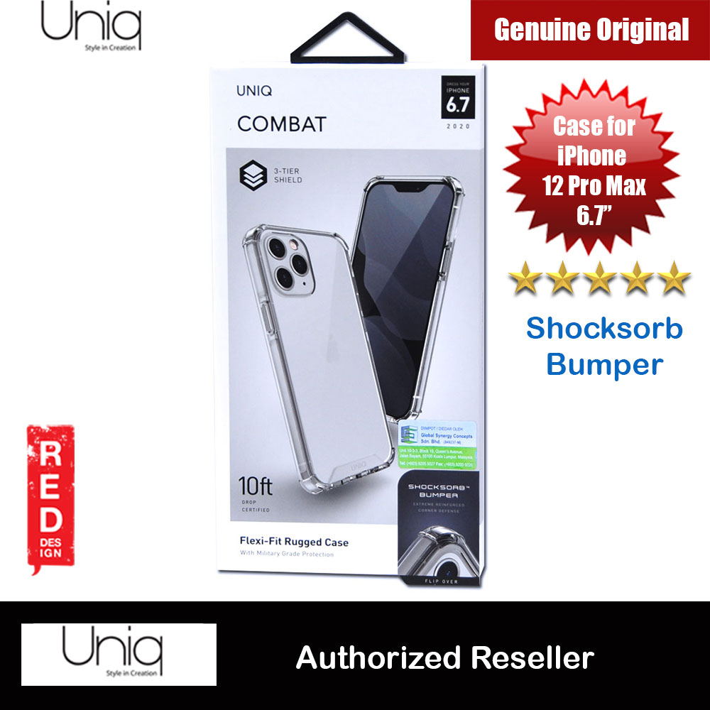 Picture of Uniq Combat Ultra Tough Drop Protection Case for iPhone 12 Pro Max 6.7 (Clear) Apple iPhone 12 Pro Max 6.7- Apple iPhone 12 Pro Max 6.7 Cases, Apple iPhone 12 Pro Max 6.7 Covers, iPad Cases and a wide selection of Apple iPhone 12 Pro Max 6.7 Accessories in Malaysia, Sabah, Sarawak and Singapore