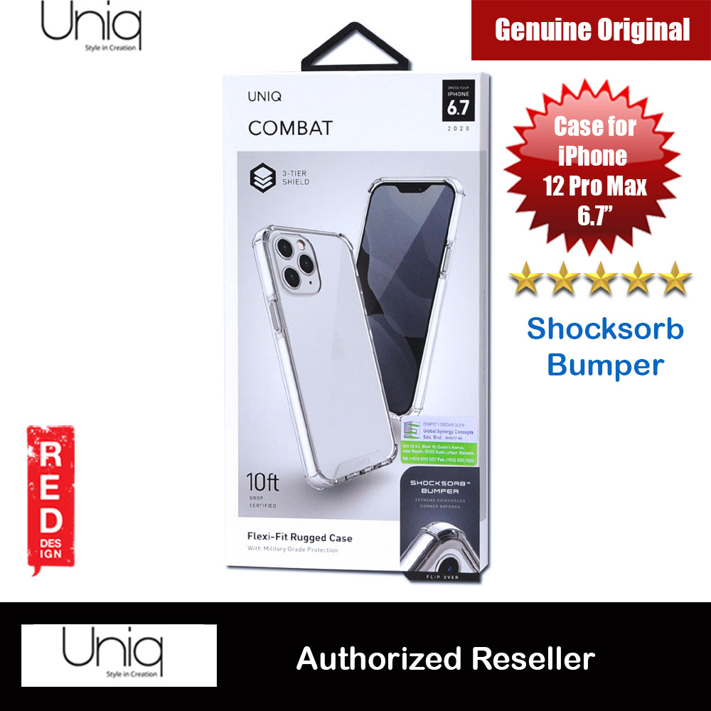 Picture of Uniq Combat Ultra Tough Drop Protection Case for iPhone 12 Pro Max 6.7 (White) Apple iPhone 12 Pro Max 6.7- Apple iPhone 12 Pro Max 6.7 Cases, Apple iPhone 12 Pro Max 6.7 Covers, iPad Cases and a wide selection of Apple iPhone 12 Pro Max 6.7 Accessories in Malaysia, Sabah, Sarawak and Singapore
