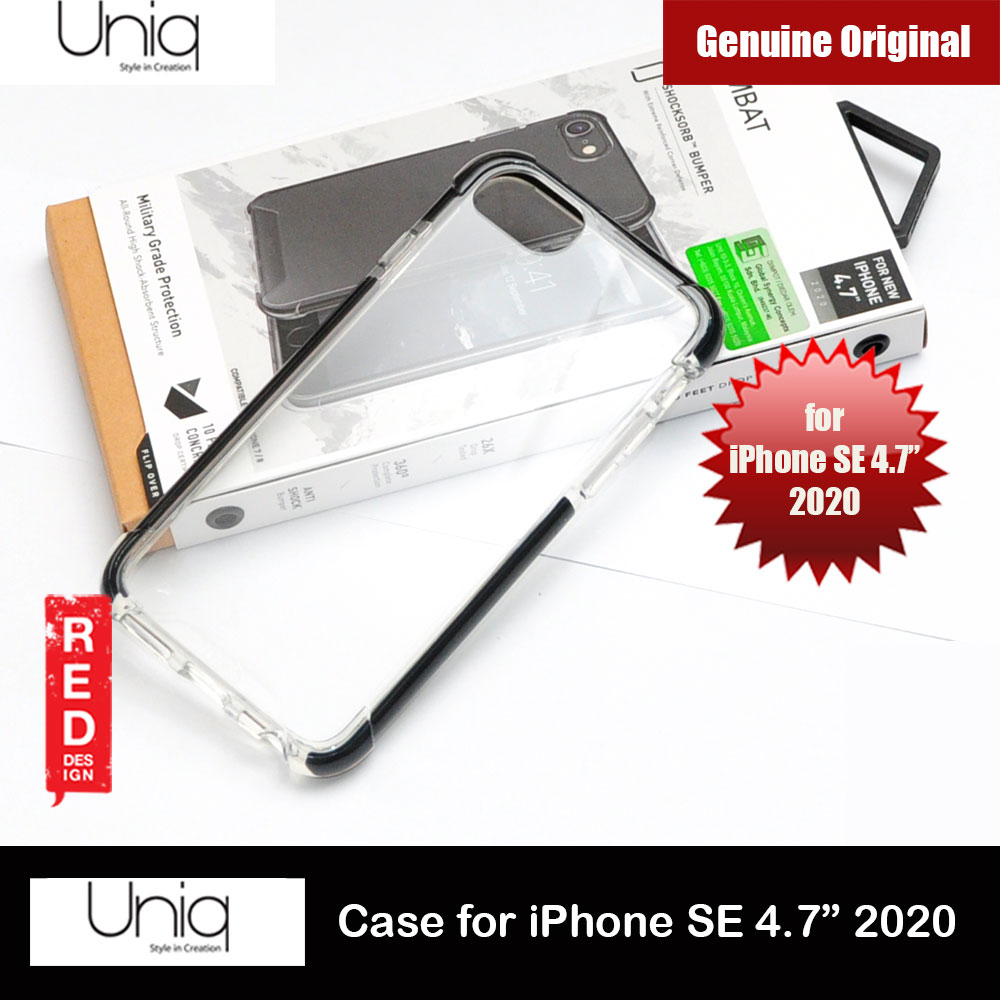 Picture of Uniq Combat Extreme Reinforced Corner Defense Protection Hybrid Case for Apple iPhone SE 4.7 2020 (Black) Apple iPhone SE 2020- Apple iPhone SE 2020 Cases, Apple iPhone SE 2020 Covers, iPad Cases and a wide selection of Apple iPhone SE 2020 Accessories in Malaysia, Sabah, Sarawak and Singapore