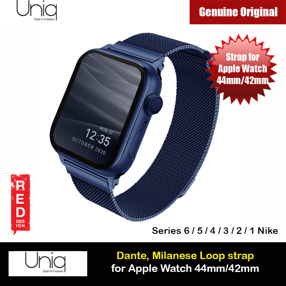 Picture of Uniq Dante Milanese Mesh Loop Strap Stainless Steel with Magnetic Clasp  Strap for Apple Watch 42mm 44mm Series 1 2 3 4 5 6 SE Nike (Blue) Apple Watch 42mm- Apple Watch 42mm Cases, Apple Watch 42mm Covers, iPad Cases and a wide selection of Apple Watch 42mm Accessories in Malaysia, Sabah, Sarawak and Singapore