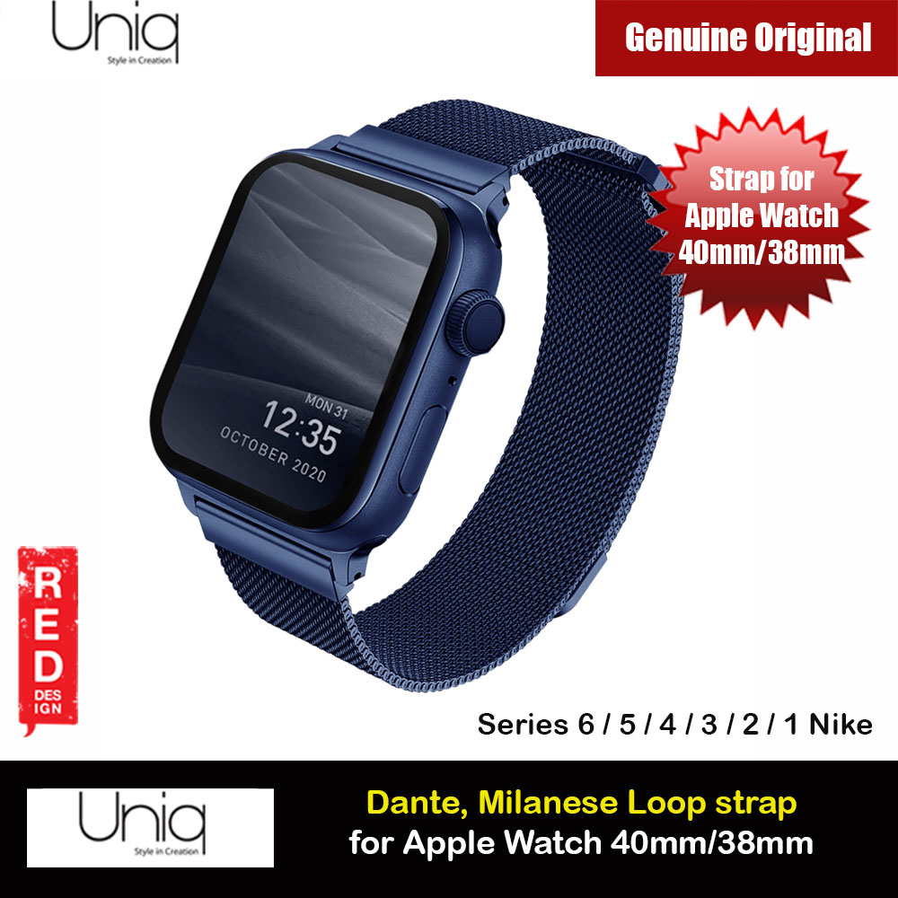 Picture of Uniq Dante Milanese Mesh Loop Strap Stainless Steel with Magnetic Clasp  Strap for Apple Watch 38mm 40mm (Blue) Apple Watch 38mm- Apple Watch 38mm Cases, Apple Watch 38mm Covers, iPad Cases and a wide selection of Apple Watch 38mm Accessories in Malaysia, Sabah, Sarawak and Singapore