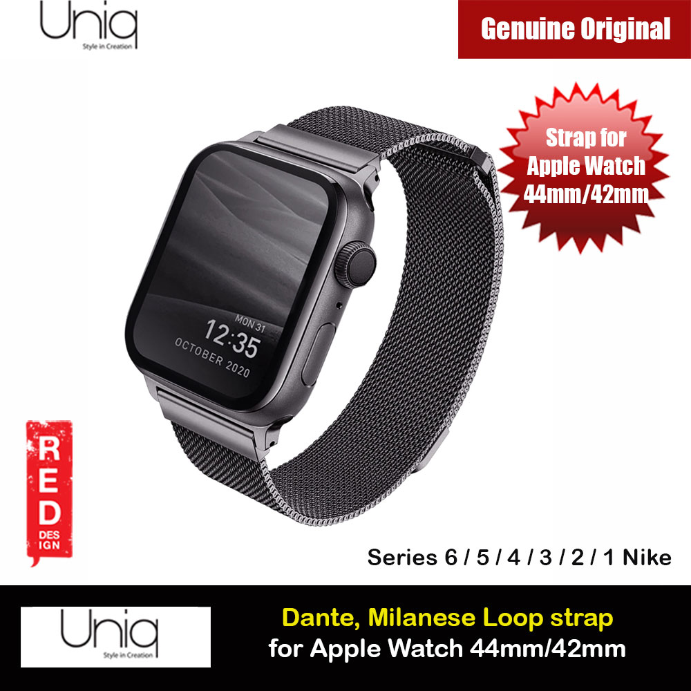 Picture of Uniq Dante Milanese Mesh Loop Strap Stainless Steel with Magnetic Clasp  Strap for Apple Watch 42mm 44mm Series 1 2 3 4 5 6 SE Nike (Graphite) Apple Watch 42mm- Apple Watch 42mm Cases, Apple Watch 42mm Covers, iPad Cases and a wide selection of Apple Watch 42mm Accessories in Malaysia, Sabah, Sarawak and Singapore