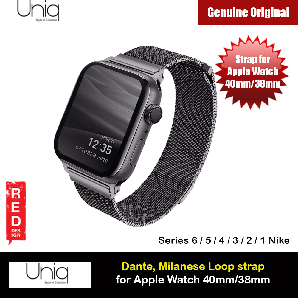 Picture of Uniq Dante Milanese Mesh Loop Strap Stainless Steel with Magnetic Clasp  Strap for Apple Watch 38mm 40mm (Graphite) Apple Watch 38mm- Apple Watch 38mm Cases, Apple Watch 38mm Covers, iPad Cases and a wide selection of Apple Watch 38mm Accessories in Malaysia, Sabah, Sarawak and Singapore