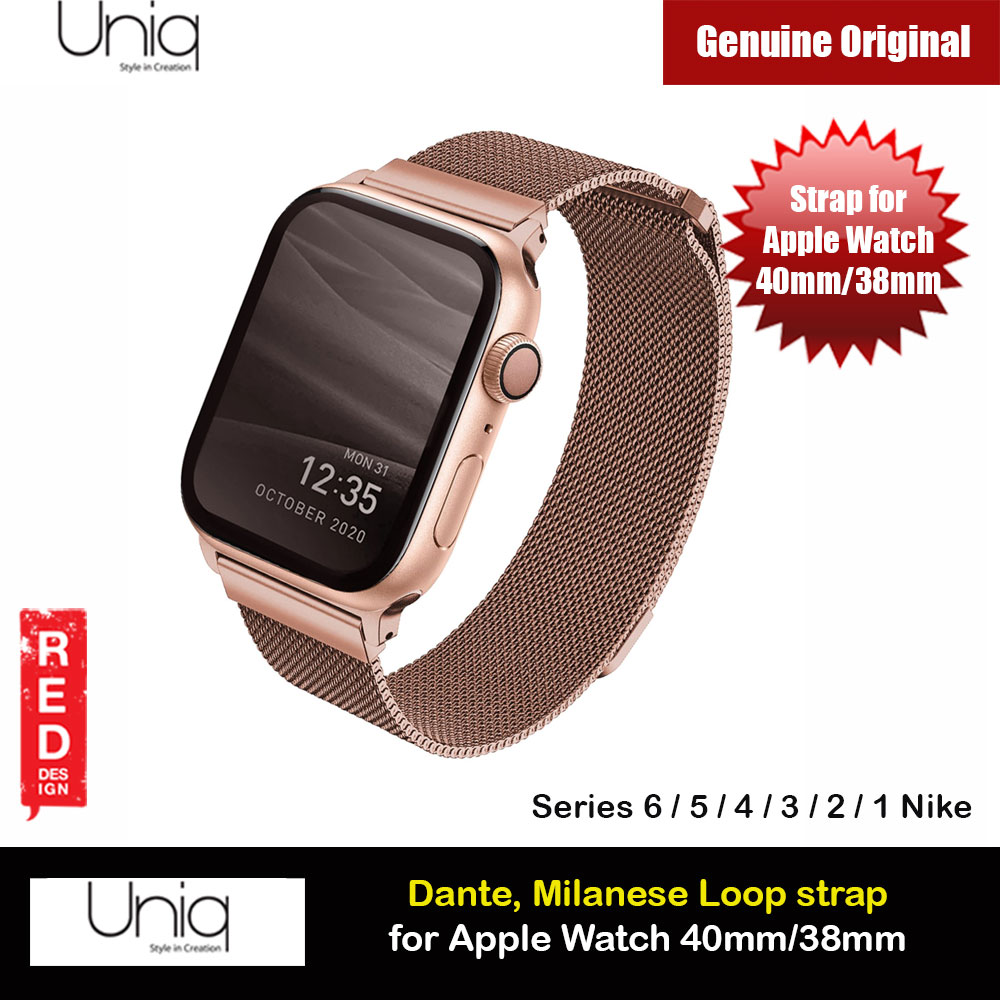 Picture of Uniq Dante Milanese Mesh Loop Strap Stainless Steel with Magnetic Clasp  Strap for Apple Watch 38mm 40mm (Rose Gold) Apple Watch 38mm- Apple Watch 38mm Cases, Apple Watch 38mm Covers, iPad Cases and a wide selection of Apple Watch 38mm Accessories in Malaysia, Sabah, Sarawak and Singapore