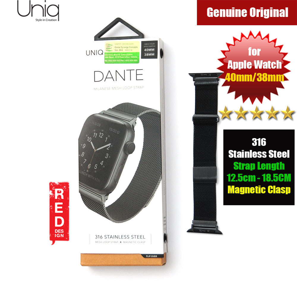 Picture of Uniq Dante Milanese Mesh Loop Strap Stainless Steel with Magnetic Clasp  Strap for Apple Watch 38mm 40mm (Black) Apple Watch 44mm- Apple Watch 44mm Cases, Apple Watch 44mm Covers, iPad Cases and a wide selection of Apple Watch 44mm Accessories in Malaysia, Sabah, Sarawak and Singapore