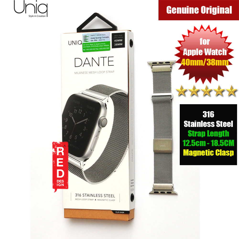Picture of Uniq Dante Milanese Mesh Loop Strap Stainless Steel with Magnetic Clasp  Strap for Apple Watch 38mm 40mm (Silver) Apple Watch 44mm- Apple Watch 44mm Cases, Apple Watch 44mm Covers, iPad Cases and a wide selection of Apple Watch 44mm Accessories in Malaysia, Sabah, Sarawak and Singapore
