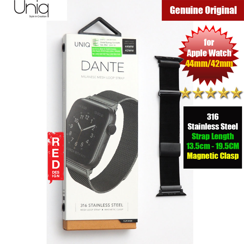 Picture of Uniq Dante Milanese Mesh Loop Strap Stainless Steel with Magnetic Clasp  Strap for Apple Watch 42mm 44mm (Black) Apple Watch 42mm- Apple Watch 42mm Cases, Apple Watch 42mm Covers, iPad Cases and a wide selection of Apple Watch 42mm Accessories in Malaysia, Sabah, Sarawak and Singapore