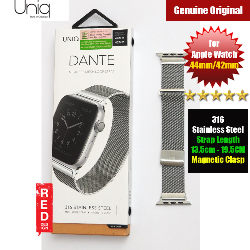 Picture of Uniq Dante Milanese Mesh Loop Strap Stainless Steel with Magnetic Clasp  Strap for Apple Watch 42mm 44mm (Silver) Apple Watch 44mm- Apple Watch 44mm Cases, Apple Watch 44mm Covers, iPad Cases and a wide selection of Apple Watch 44mm Accessories in Malaysia, Sabah, Sarawak and Singapore