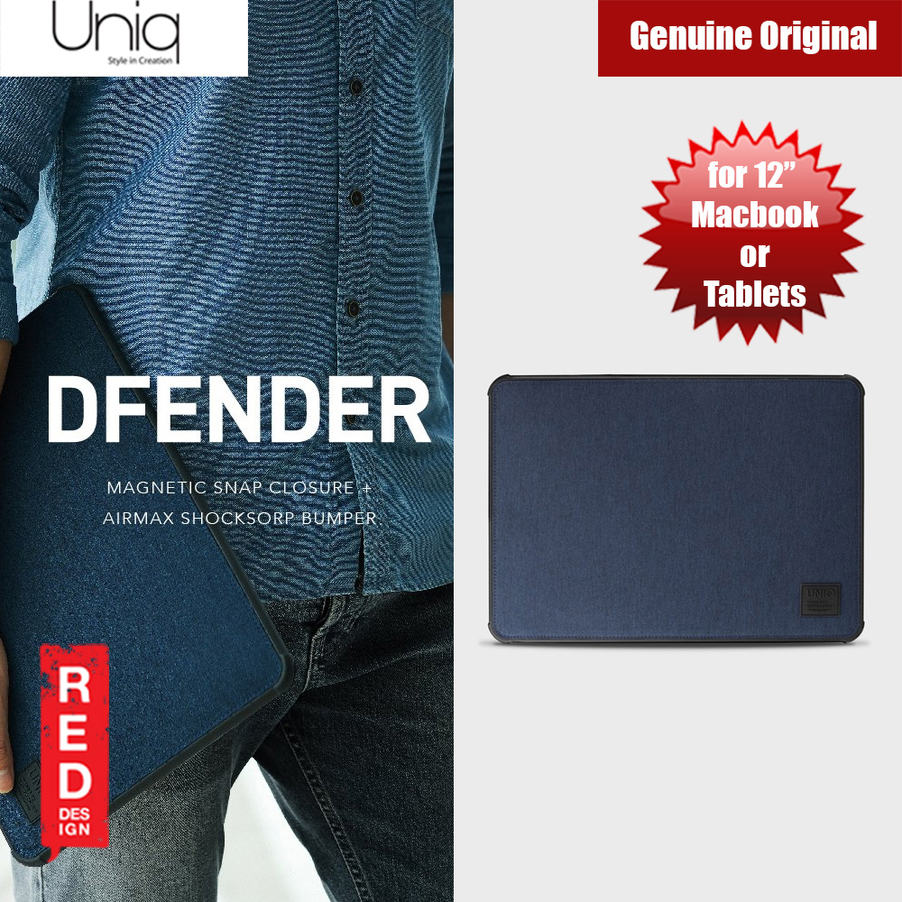 Picture of Uniq Dfender Bumper Case for Apple Macbook or Tablets  up to 12 inches (Blue) Apple iPad 9.7 2017- Apple iPad 9.7 2017 Cases, Apple iPad 9.7 2017 Covers, iPad Cases and a wide selection of Apple iPad 9.7 2017 Accessories in Malaysia, Sabah, Sarawak and Singapore
