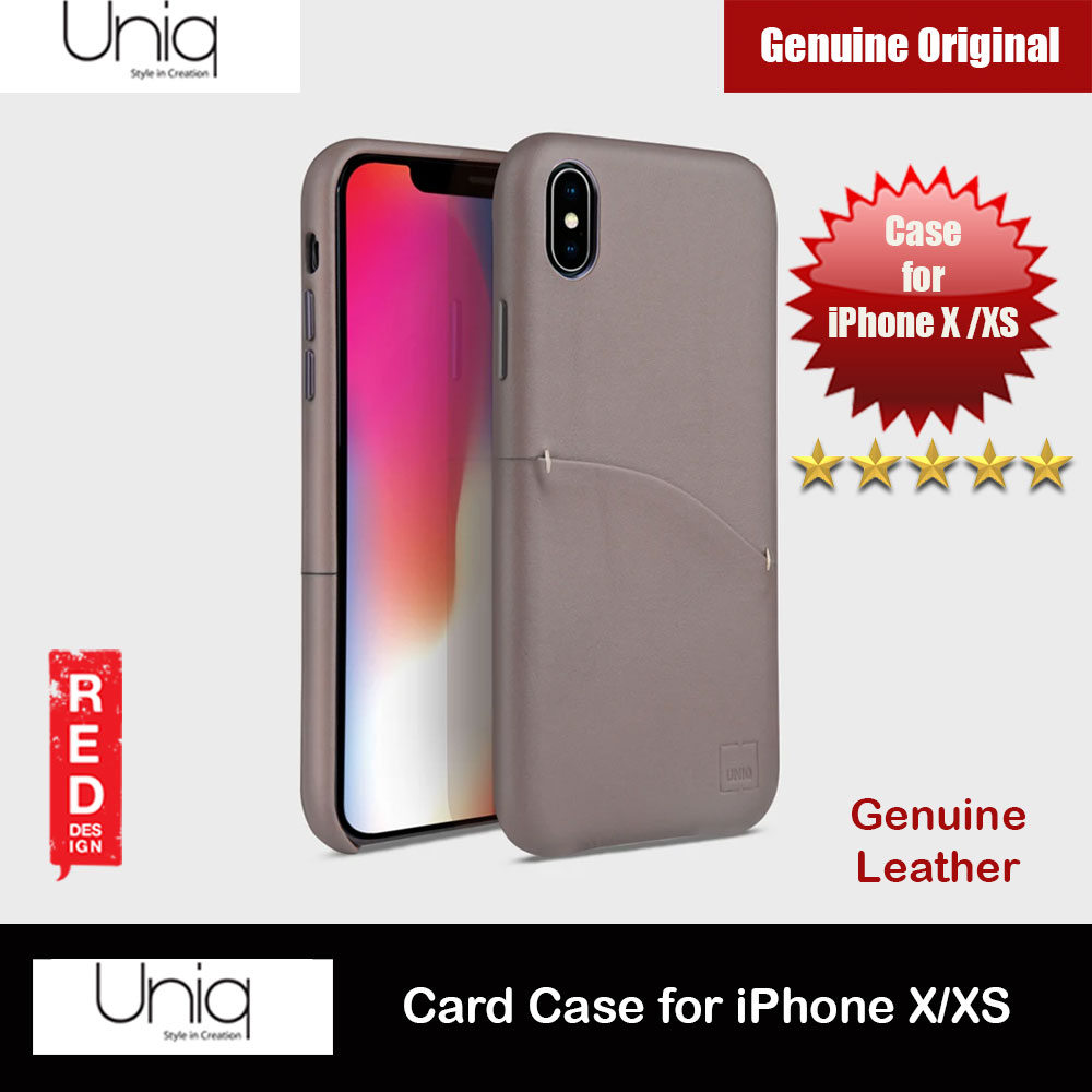 Picture of Uniq Element Duffle Genuine Leather Card Slot Ticket Slot Case for Apple iPhone X (Beige) Apple iPhone X- Apple iPhone X Cases, Apple iPhone X Covers, iPad Cases and a wide selection of Apple iPhone X Accessories in Malaysia, Sabah, Sarawak and Singapore