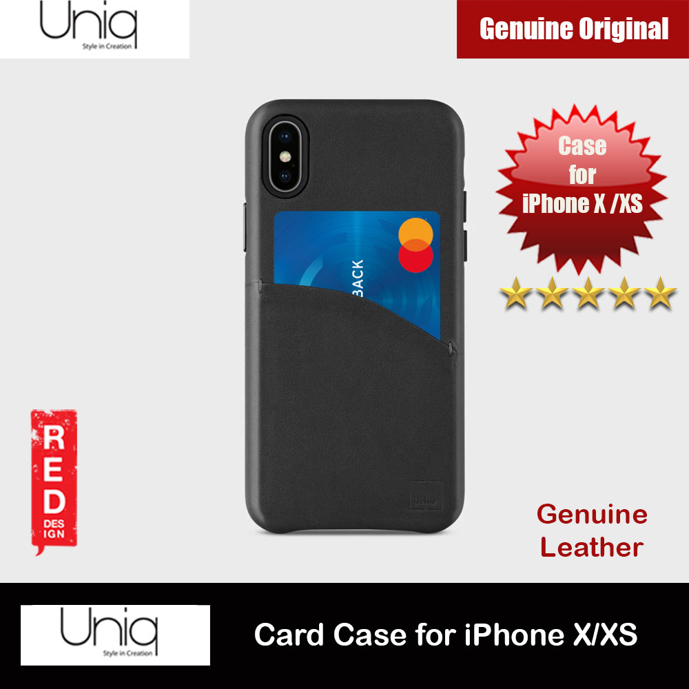 Picture of Uniq Element Duffle Genuine Leather Card Slot Ticket Slot Case for Apple iPhone X(Black) Apple iPhone X- Apple iPhone X Cases, Apple iPhone X Covers, iPad Cases and a wide selection of Apple iPhone X Accessories in Malaysia, Sabah, Sarawak and Singapore