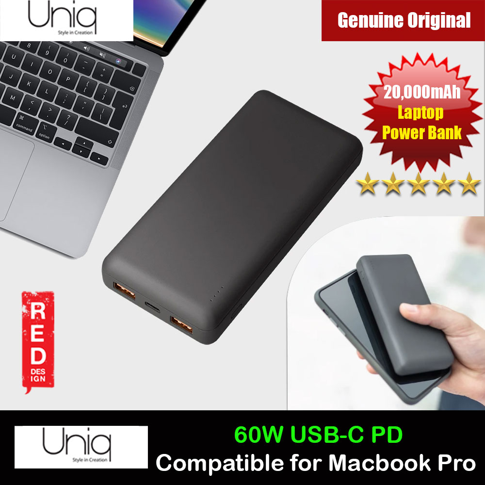 Picture of Uniq FUELEMAX 60W TYPE-C Power Delivery Fast Charge Laptop Power Bank for iPhone iPad Airpods Airpods Pro iPad Pro Macbook Pro (Grey) Red Design- Red Design Cases, Red Design Covers, iPad Cases and a wide selection of Red Design Accessories in Malaysia, Sabah, Sarawak and Singapore
