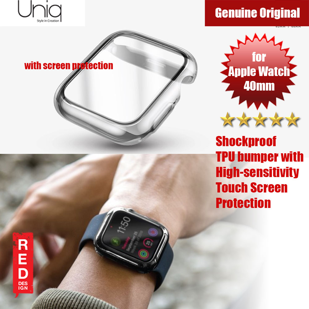 Picture of Uniq Garde Series Case with High Sensitivity Touch Screen Protection for Apple Watch 40mm (Clear) Apple Watch 40mm- Apple Watch 40mm Cases, Apple Watch 40mm Covers, iPad Cases and a wide selection of Apple Watch 40mm Accessories in Malaysia, Sabah, Sarawak and Singapore