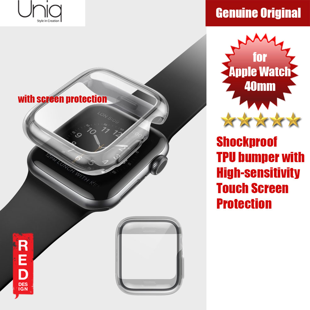 Picture of Uniq Garde Series Case with High Sensitivity Touch Screen Protection for Apple Watch 40mm (Tint Black) Apple Watch 40mm- Apple Watch 40mm Cases, Apple Watch 40mm Covers, iPad Cases and a wide selection of Apple Watch 40mm Accessories in Malaysia, Sabah, Sarawak and Singapore