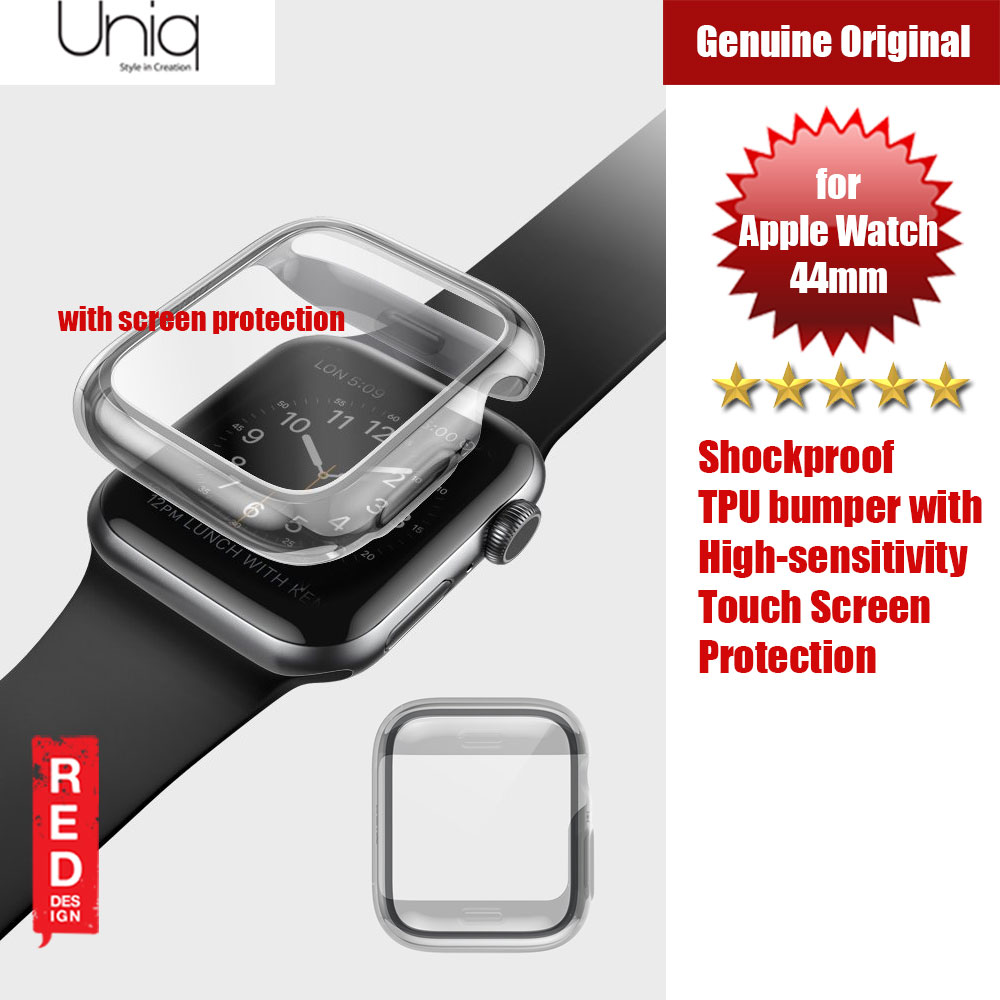 Picture of Uniq Garde Series Case with High Sensitivity Touch Screen Protection for Apple Watch 44mm (Tint Black) Apple Watch 44mm- Apple Watch 44mm Cases, Apple Watch 44mm Covers, iPad Cases and a wide selection of Apple Watch 44mm Accessories in Malaysia, Sabah, Sarawak and Singapore
