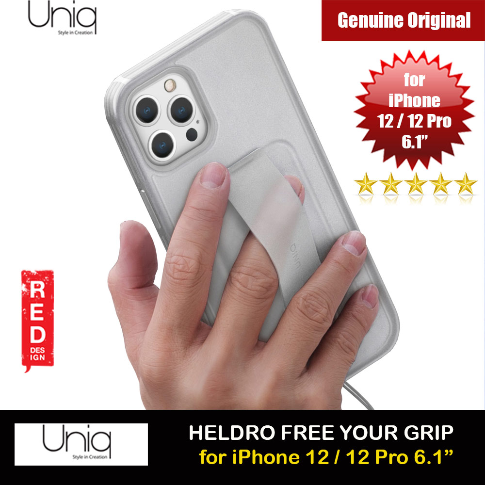 Picture of Uniq Heldro Free Grip Flex Grip Sporty Drop Protection Case with Wrist Strap for iPhone 12 iPhone 12 Pro 6.1 (Frost Clear) Apple iPhone 12 6.1- Apple iPhone 12 6.1 Cases, Apple iPhone 12 6.1 Covers, iPad Cases and a wide selection of Apple iPhone 12 6.1 Accessories in Malaysia, Sabah, Sarawak and Singapore