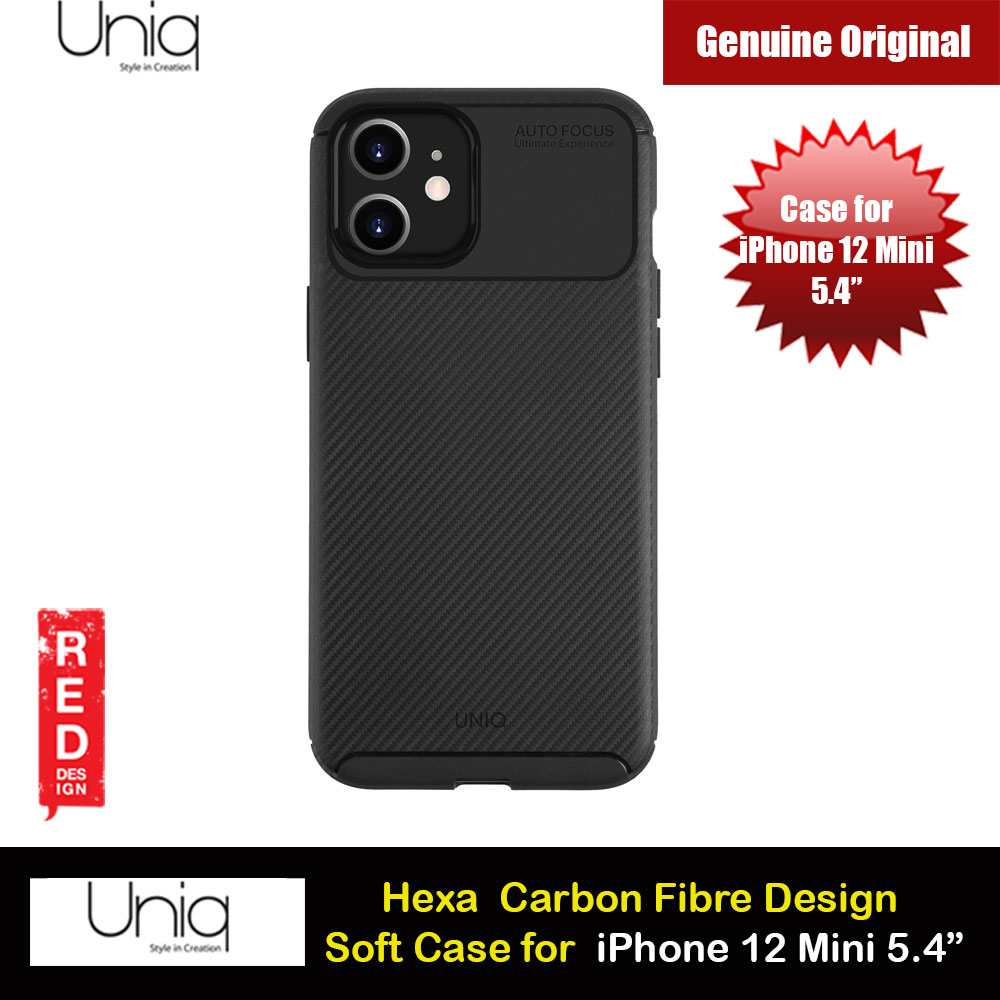Picture of Uniq Hexa Carbon Fiber Texture Flex Soft Drop Protection Case for iPhone 12 Mini 5.4 (Black) Apple iPhone 12 mini 5.4- Apple iPhone 12 mini 5.4 Cases, Apple iPhone 12 mini 5.4 Covers, iPad Cases and a wide selection of Apple iPhone 12 mini 5.4 Accessories in Malaysia, Sabah, Sarawak and Singapore