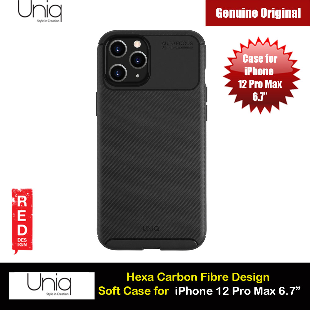 Picture of Uniq Hexa Carbon Fiber Texture Flex Soft Drop Protection Case for iPhone 12 Pro Max 6.7 (Black) Apple iPhone 12 Pro Max 6.7- Apple iPhone 12 Pro Max 6.7 Cases, Apple iPhone 12 Pro Max 6.7 Covers, iPad Cases and a wide selection of Apple iPhone 12 Pro Max 6.7 Accessories in Malaysia, Sabah, Sarawak and Singapore