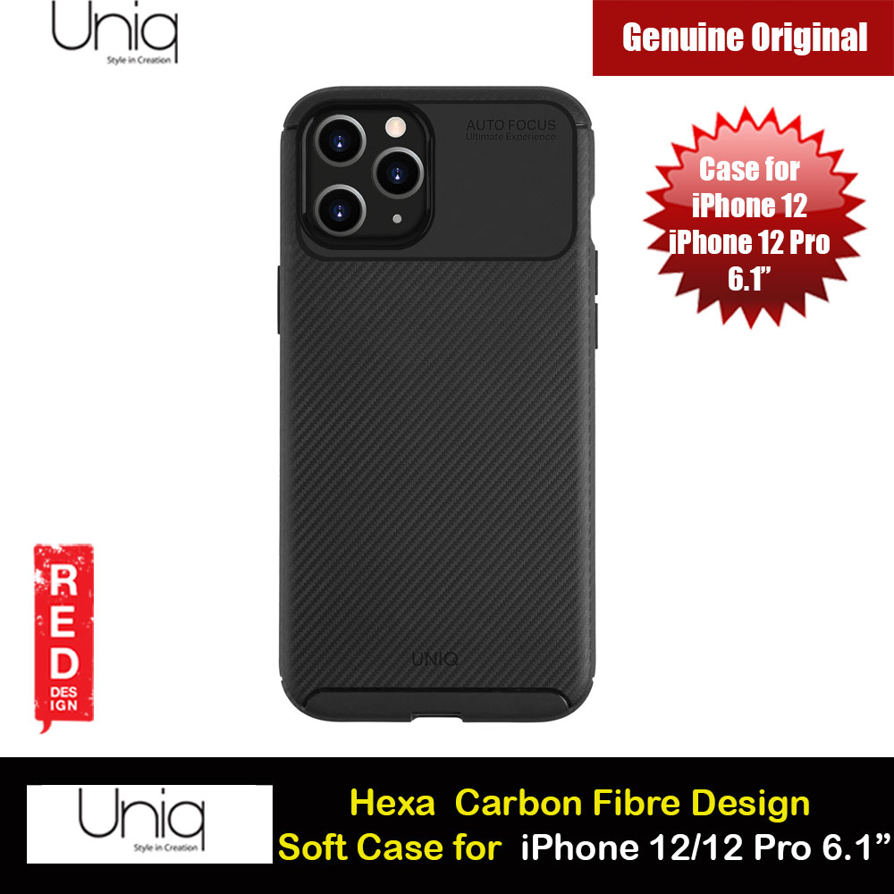 Picture of Uniq Hexa Carbon Fiber Texture Flex Soft Drop Protection Case for iPhone 12 iPhone 12 Pro 6.1 (Black) Apple iPhone 12 6.1- Apple iPhone 12 6.1 Cases, Apple iPhone 12 6.1 Covers, iPad Cases and a wide selection of Apple iPhone 12 6.1 Accessories in Malaysia, Sabah, Sarawak and Singapore