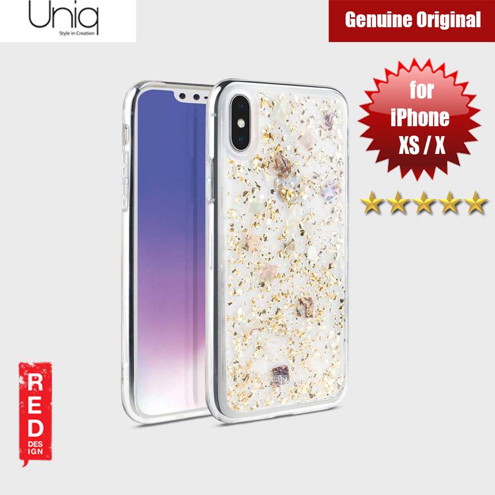 Picture of Uniq Lumence Clear Genuine Glitz Seashells Soft Case for Apple iPhone XS iPhone X (Gold) Apple iPhone XS- Apple iPhone XS Cases, Apple iPhone XS Covers, iPad Cases and a wide selection of Apple iPhone XS Accessories in Malaysia, Sabah, Sarawak and Singapore