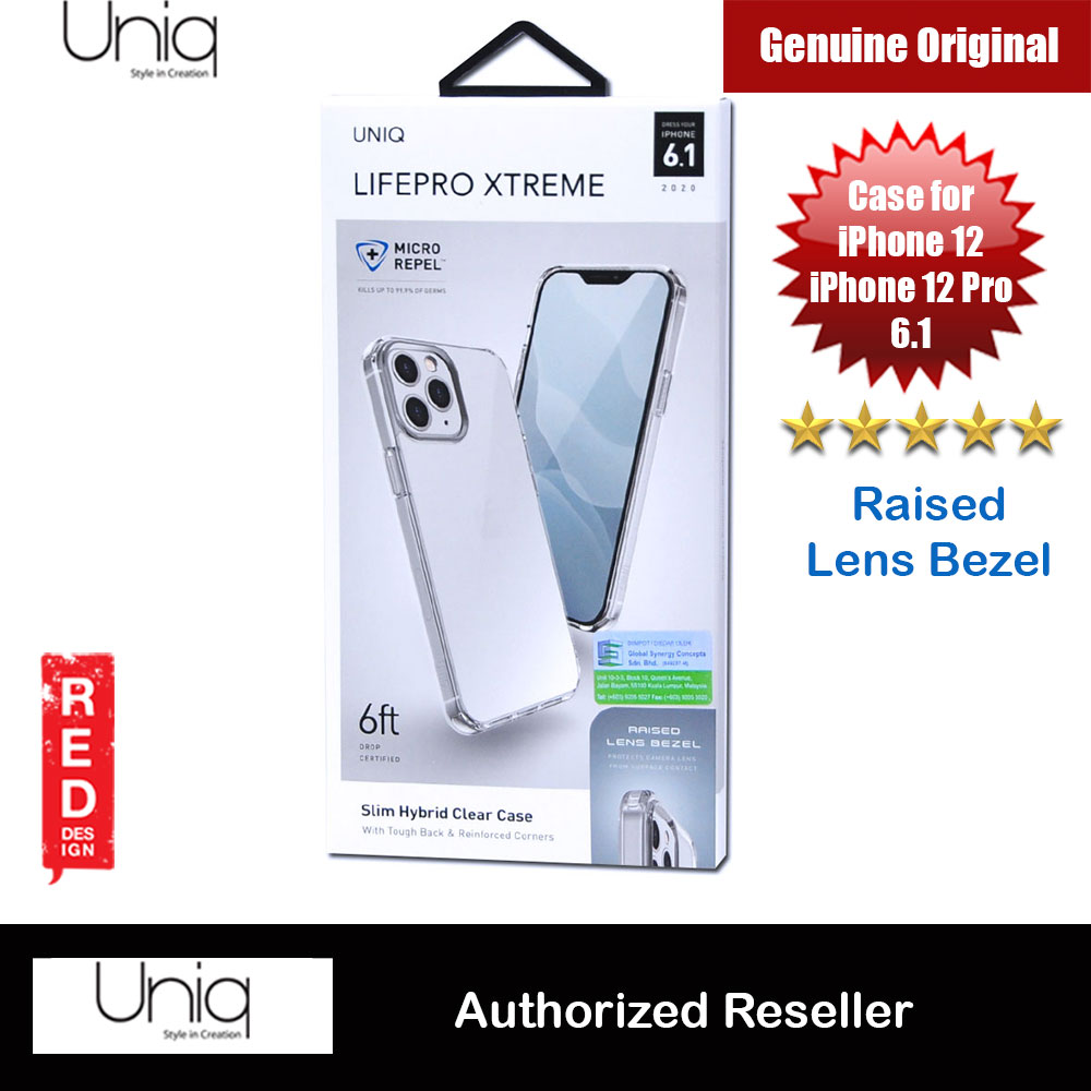 Picture of Uniq Lifepro Xtreme Slim Hybrid Clear Drop Protection Case Raised Lens Bezel Protection Case for iPhone 12 iPhone 12 Pro 6.1 (Clear) Apple iPhone 12 6.1- Apple iPhone 12 6.1 Cases, Apple iPhone 12 6.1 Covers, iPad Cases and a wide selection of Apple iPhone 12 6.1 Accessories in Malaysia, Sabah, Sarawak and Singapore