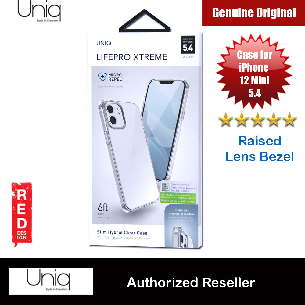 Picture of Uniq Lifepro Xtreme Slim Hybrid Clear Drop Protection Case Raised Lens Bezel Protection Case for iPhone 12 Mini 5.4 (Clear) Apple iPhone 12 mini 5.4- Apple iPhone 12 mini 5.4 Cases, Apple iPhone 12 mini 5.4 Covers, iPad Cases and a wide selection of Apple iPhone 12 mini 5.4 Accessories in Malaysia, Sabah, Sarawak and Singapore