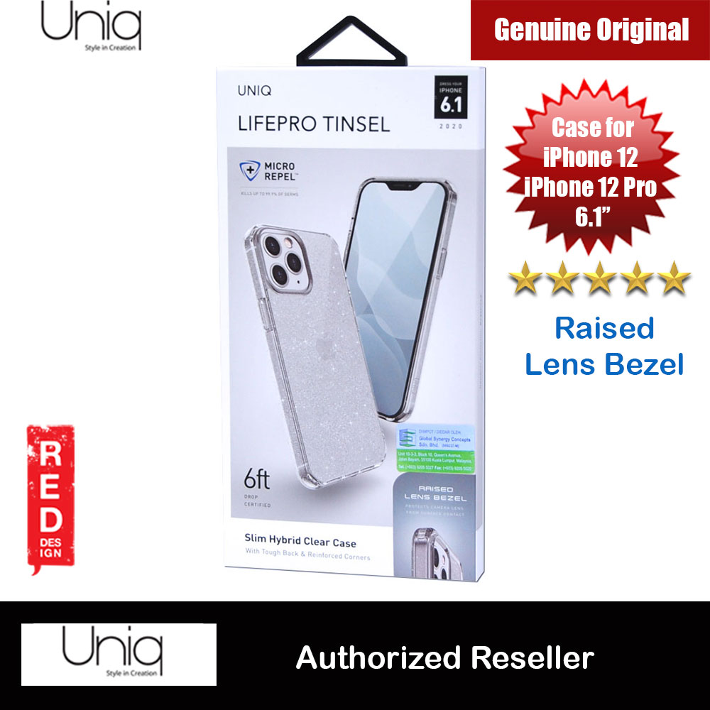Picture of Uniq Lifepro Tinsel Slim Hybrid Clear Drop Protection Case Raised Lens Bezel Protection Case for iPhone 12 iPhone 12 Pro 6.1 (Clear) Apple iPhone 12 6.1- Apple iPhone 12 6.1 Cases, Apple iPhone 12 6.1 Covers, iPad Cases and a wide selection of Apple iPhone 12 6.1 Accessories in Malaysia, Sabah, Sarawak and Singapore